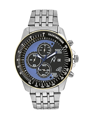 Yepme Men's Chronograph Watch - Black/Silver