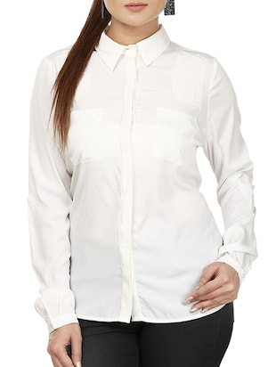white georgette shirt