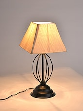 Cream Colored Metal Table Lamp - By