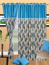 Printed Polyester Eyelet Door Curtain - Handloomdaddy