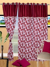 Printed Polyester Eyelet Door Curtain - Handloomdaddy - 1067445