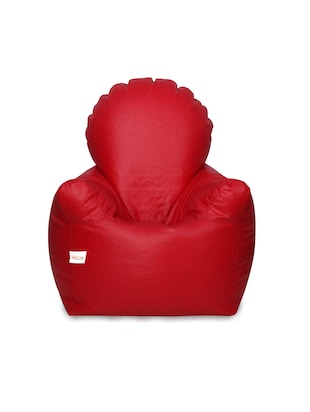 Sattva Arm Chair XXXL Bean Bag Cover (without Beans) - Red Colour