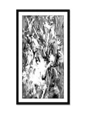 Modern Art Floral Black & White Painting - Thousand-brushes