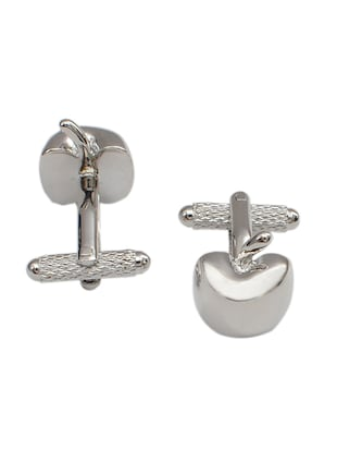 Alvaro Castagnino silver Metal Tie cufflinks & Pocket square Set