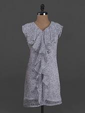 Printed Sleeveless Polychiffon Dress - Belle Fille