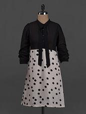 Polka Dot Printed Long Sleeves Polygeorgette Dress - Belle Fille