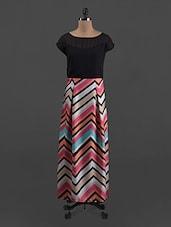 Chevron Printed Polygeorgette Dress - Belle Fille