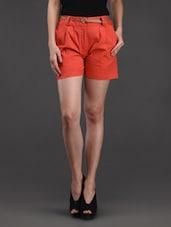 Plain Solid Cotton Shorts - Belle Fille