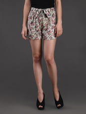 Floral Printed Rayon Shorts - Belle Fille