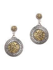 Silver & Golden Circular Earrings - Zindagi
