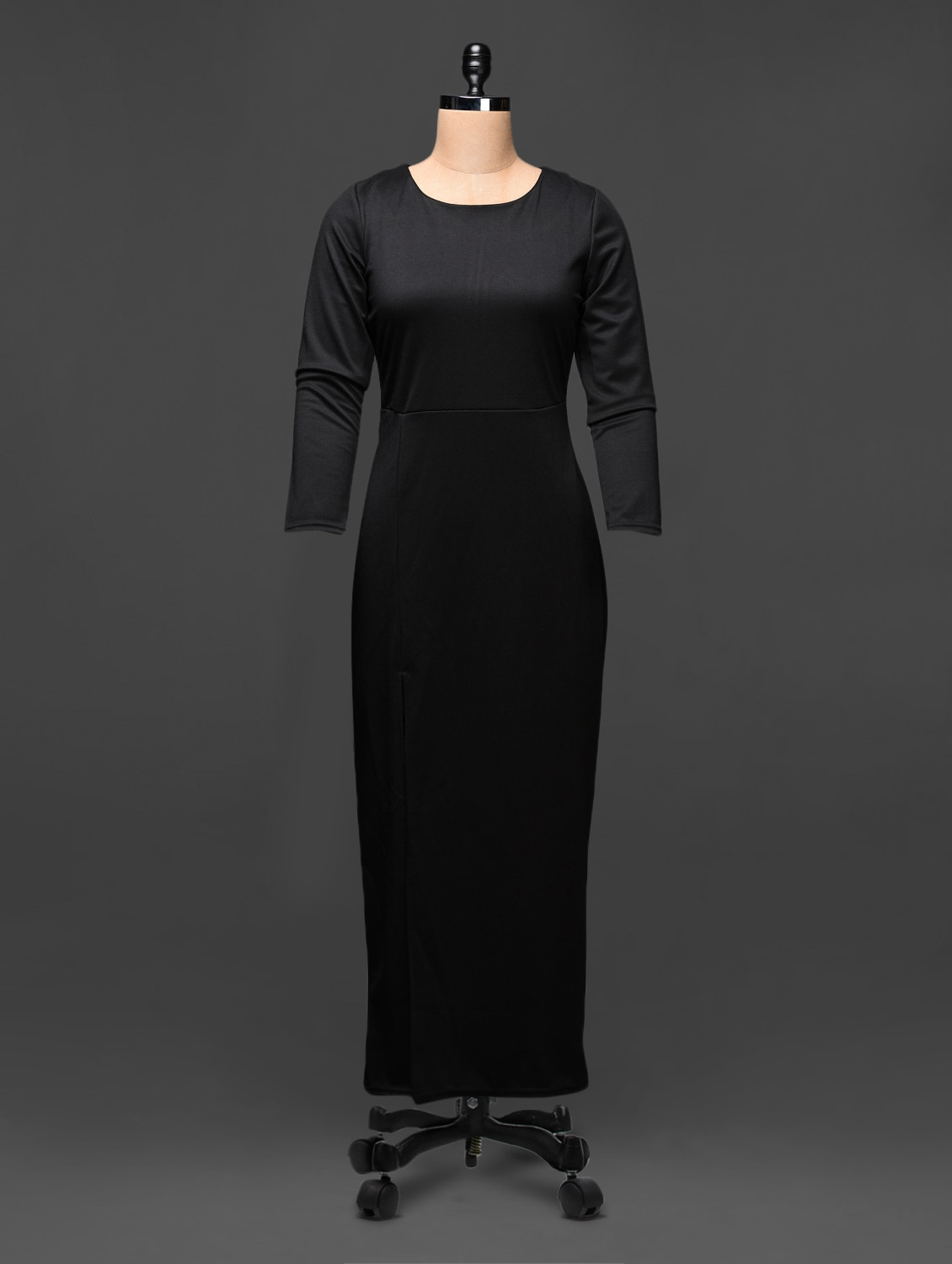 Black Maxi Dress With Side Slit - Buylane