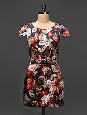Floral Print Cap Sleeved Sheath Dress - Buylane