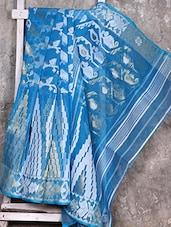 Blue Cotton Silk Saree - Creation