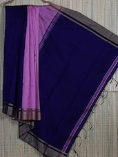 Navy Blue Cotton Silk Jamdani Saree - Creation