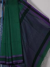 Green Handwoven Jacquard Cotton Silk Saree - NFTSSLTD