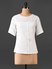 White Lace Yoke Top - CHERYMOYA
