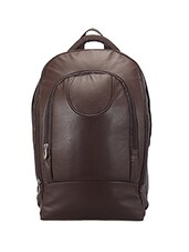 Brown Leather Laptop Bag Cum Backpack - ADAMIS