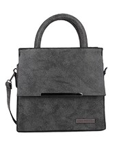 Front Flap Pocket Grey Hand Bag -  online shopping for handbags