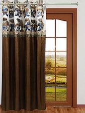 Homefab India Stylish Brown Curtain - By