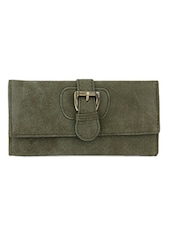 Green Textured Multiple Pocket Purse - Lino Perros