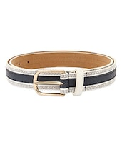 Blue Textured Leatherette Womens Belt - Lino Perros