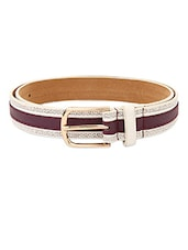 Purple Textured Leatherette Womens Belt - Lino Perros