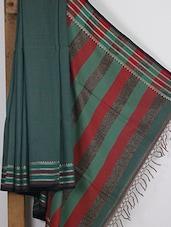 Pale Green Handwoven Tussar Cotton Silk Saree - NFTSSLTD