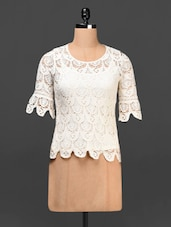 Round Neck Lace Top - Urban Helsinki