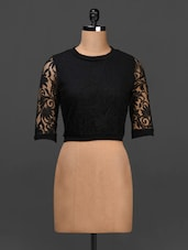 Black Round Neck Lace Top - Urban Helsinki