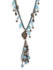 Beaded Antique Gold And Turquoise Necklace - HARP