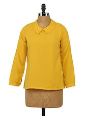 Polyester Full Sleeve Top - Sepia