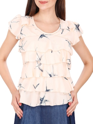 peach viscose top