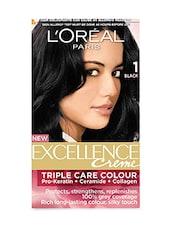 L'Oreal Paris Excellence Creme, Black 01,72ml+100g - By