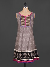 Sleeveless Printed Cotton Kurta - Jhalani Exports