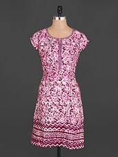 Short Sleeves Floral Print Cotton Kurta - Jhalani Exports