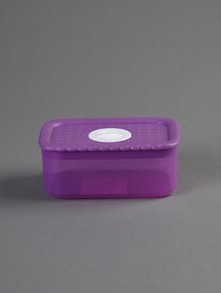 Purple square food container