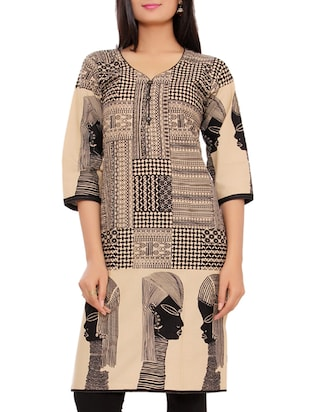 beige cotton kurta