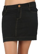 Patch Pocket Handloom Cotton Skirt - Desiweaves
