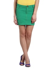Cotton Handloom Solid Short Skirt - Desiweaves