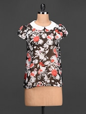 Floral Printed Georgette Top - Meee!