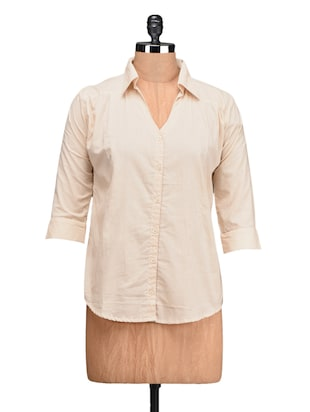 Plain Solid Cotton Shirt