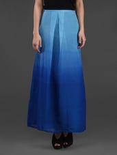 Ombre Effect Georgette Long Skirt - Meee!