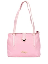 Pink Textured Leather Shoulder Bag - HIDESIGN