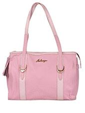 Pink Textured Leather Shoulder Bag - HIDESIGN