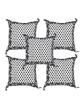 Polka Dots Printed Cotton Cushion Covers Set Of 5 - ECraftIndia