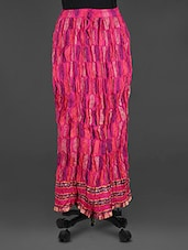 Pink Block Printed Long Skirt - Soundarya
