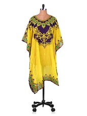 Digital Printed Round Neck Kaftan - 7 Colors Lifestyle