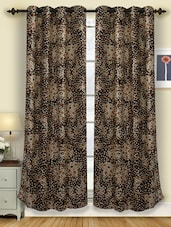 Geometric Patterned Polyester Eyelet Curtains (pack Of 2) - Deco Curtain