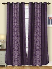 Eyelet Hanging Polyester Door Curtain - Deco Curtain