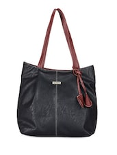 Black Faux Leather Handbag - Bern
